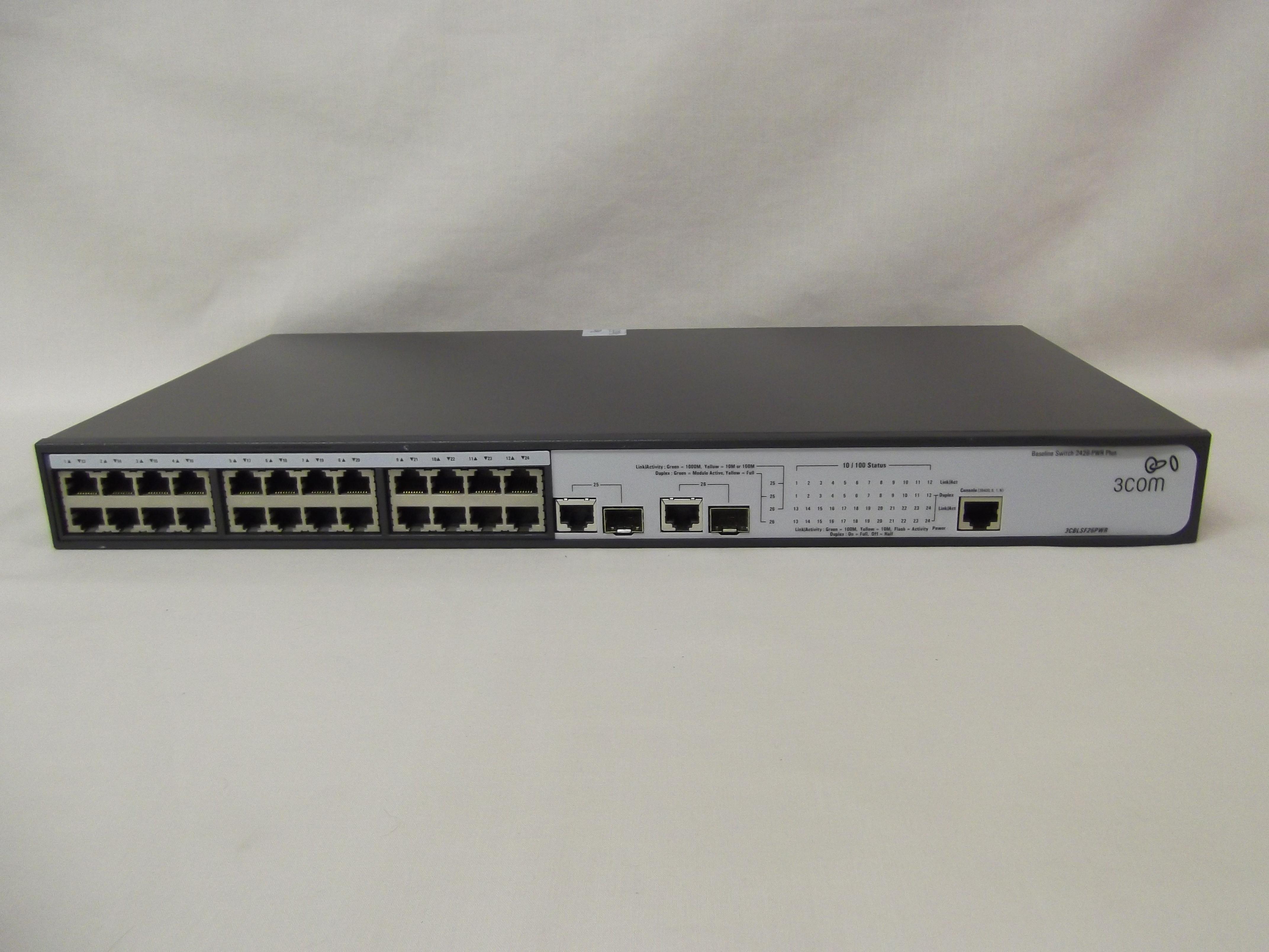 3CBLSF26PWR (JF536A) 3Com Baseline Switch 2426 Plus PWR