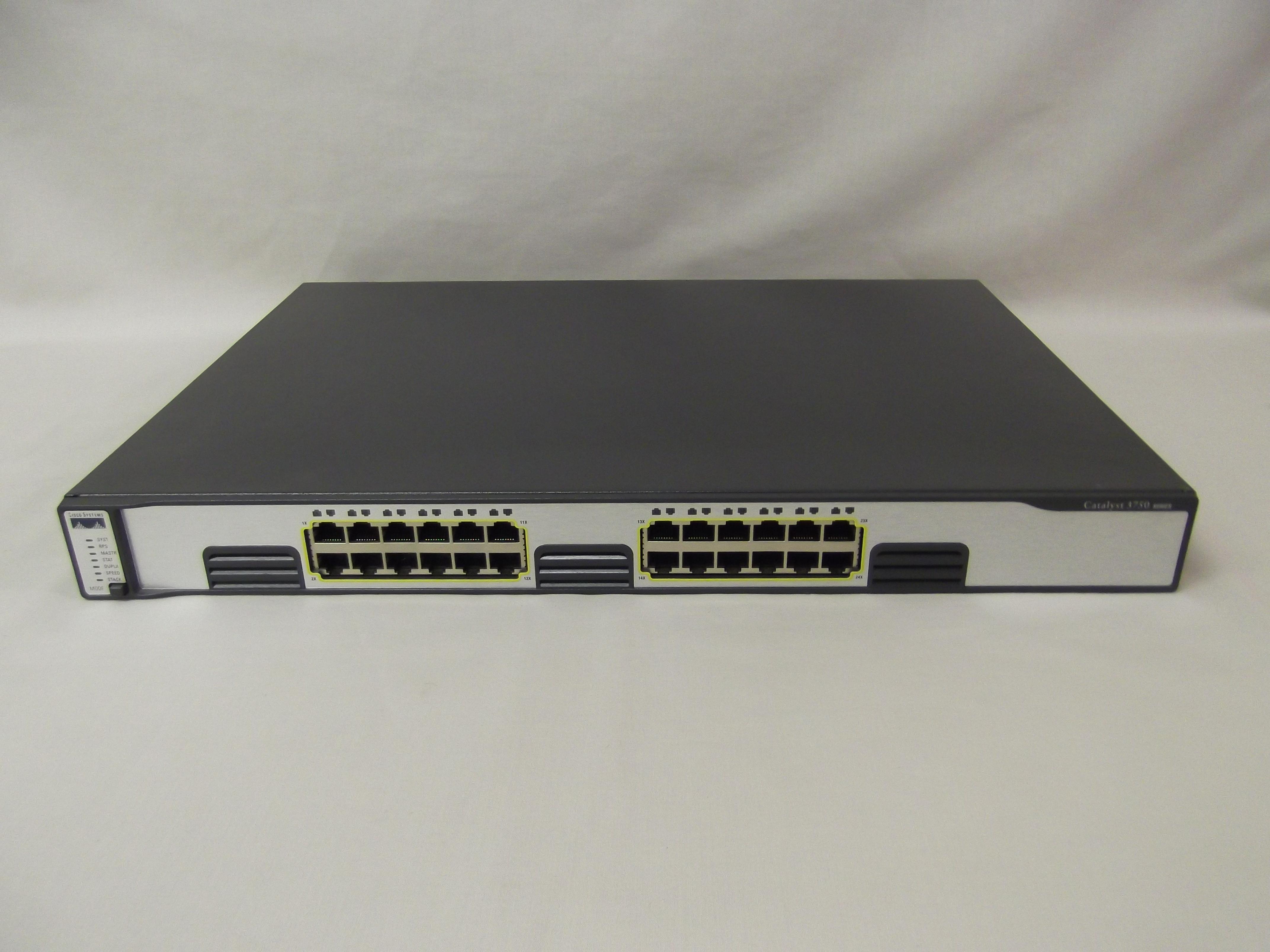 Ws C3750g 24t E Cisco Catalyst 3750 24 Port Gigabit Layer